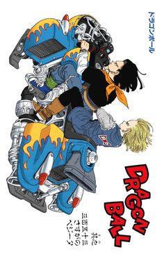 Android 17 and 18 motorbike Akira, Dragon Ball Z, Manga, Ball Drawing, Building Art, Anime Japan, Le Chef, Mood Pics, Geek Stuff