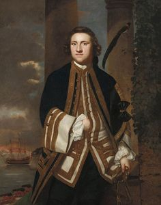 .:. Captain the Honourable George Edgcumbe, 1748 Joshua Reynolds