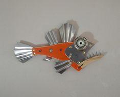 Wood Fish, Metal Fish, Seaside Art, Beach Art, Fish Wall Art, Fish Art, Steampunk Theme, Fisherman Gifts, Fish Sculpture