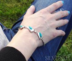 Bransoletka srebrna z Turkusem - zobacz w naszym sklepie! Bracelets, Jewelry, Fashion, Moda, Jewlery, Jewerly, Fashion Styles, Schmuck, Jewels