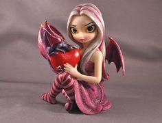 Jasmine Becket-Griffith Figurines | Jasmine Becket Griffith Strangeling Fairies Figurine 8410 Valentine ...