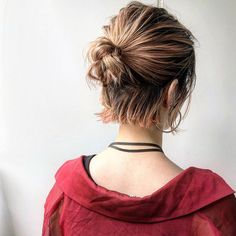 Frisuren messy bun - - - Why Everyone Should Recycle Recycl Messy Bun Hairstyles, Bob Hairstyles, Elegant Hairstyles, Party Hairstyles, Wedding Hairstyles, Short Hair Bun, Styling Short Hair Bob, Hair Arrange, Hair Lengths