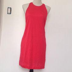 Zara raspberry dress open back Brand new, never been worn only missing one of the little buttons, t shirt material Zara Dresses