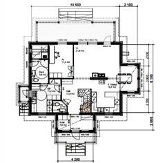 Bottenvåningens planlösning⬆  Vi utgick från planlösningen på Kannustalos Aurora 165 och gjorde lite egna ändringar. Med facit i hand är vi… Berg, Floor Plans, How To Plan, Instagram, Floor Plan Drawing, House Floor Plans