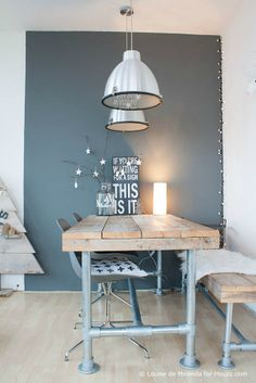 Scandinavian style on a budget in a small city apartment - Scandinavian - Dining Room - other metro - by Louise de Miranda Room Inspiration, Interior Inspiration, Photo Deco, Piece A Vivre, Scandinavian Home, Home And Deco, Dining Table, Wood Table, Dining Room