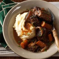 Slow Cooker Short Ribs Recipe from Taste of Home -- shared by Rebekah Beyer of Sabetha, Kansas
