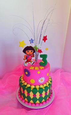 Dora the Explorer birthday cake Dora Birthday Cake, Girly Birthday Cakes, Girl Birthday, Birthday Ideas, Dora The Explorer, Girl Cakes, Cake Ideas, Celebrations, Bakery