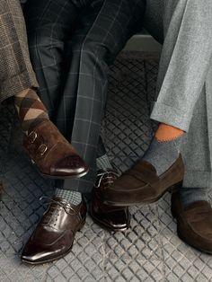 ♂ Masculine and elegance man's fashion accessories shoes Paul Stuart Fall 2013.