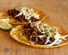 Barbacoa Beef Tacos with Cilantro-Jalapeno Aioli