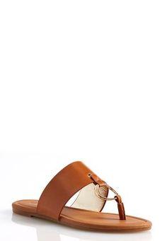 Cato Fashions Metal Grommet Thong Sandals #CatoFashions