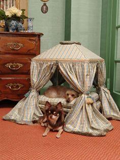 Louis XVI inspired pet bed