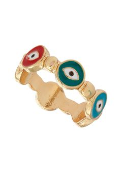 Multi Eye Band Ring from TopShop