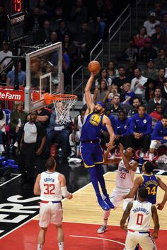 Golden State Warriors Center JaVale McGee goes up for a one handed shot during an NBA game between the Golden State Warriors and the Los Angeles...