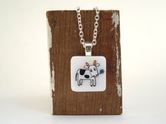 Cute Cow Necklace by marmar on Etsy, $28.00