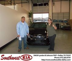 Happy Anniversary to Huberth Gallegos on your 2013 Kia Optima from James Little and everyone at Southwest Kia Dallas!