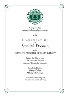 Invitation inauguration boutique recherche google une belle college president inauguration invitation google search stopboris Images