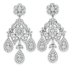 Diamond Earrings given to Elizabeth Taylor by Mike Todd