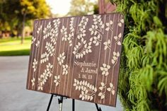 Birch Tree inspired guest book