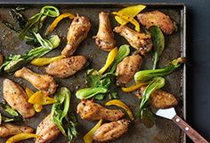 Salt-and-Pepper Chicken Wings with Bok Choy and Peppers Recipe - Oprah.com