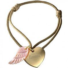 Disponible également en argent. Plus de 10 coloris disponibles. #heartbracelet #braceletcoeur