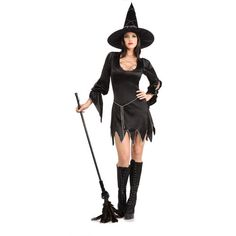 sexy witch costume | Adult Bewitched Sexy Witch Fancy Dress Costume 8 - 12