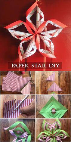 Christmas paper tree diy origami stars ideas for 2019 Diy Origami, Paper Crafts Origami, Origami Stars, Origami Tree, Paper Crafting, Diy Christmas Star, Christmas Paper Crafts, Christmas Makes, Christmas 2019