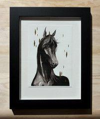 Dark Horse - gilded by ellaquaint Dark Horse, Moose Art, Batman, Illustrations, Superhero, Animals, Fictional Characters, Meet, Animales