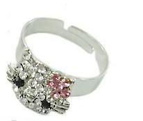 Adjustable Hello Kitty Rhinestone Ring Cute Kitty Adjustable Ring Rhinestones and alloy metal Bows may vary in color will send random Bani Pe Net, Adjustable Ring, My Precious, Php, Rhinestones, Hello Kitty, Product Launch, Bows, Engagement Rings