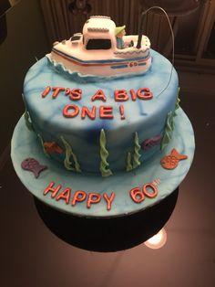 Fishing boat 60th birthday cake.