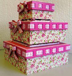 Caixa mdf com shaker box Shabby Chic Storage, Fabric Boxes, Pretty Box, Altered Boxes, Craft Bags, Vintage Box, Diy For Girls, Box Design, Box Art
