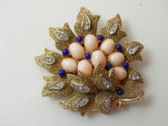 Beautiful Trifari Brooch in Both Design Color Detail Is Exquisite | eBay
