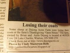 """I made the Local Newspaper ! """"Just North of Wiarton & South of the Checkerboard"""""""