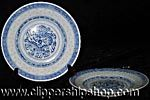 Chinese rice pattern dishes.  Very common in Oriental houses.  One can see the rice indentations in the dishes.Very translucent.