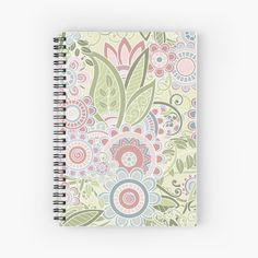 """Pastel summer"" Spiral Notebook by OkopipiDesign Notebook Paper, Notebook Design, Iphone Wallet, Sell Your Art, Floor Pillows, Spiral, Stationery, Pastel, Summer"