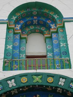 Detalle de la fachada de la iglesia de San Juan Chamula, Chiapas, México. Photo on nataren's photostream on Flickr.