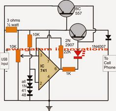 The article discusses a simple automatic usb li-ion battery charger circuit with auto-cut off current controlled features
