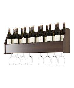 Love this Espresso Floating Wine Rack on #zulily! #zulilyfinds