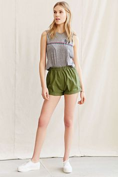 Urban Renewal Vintage Pull-On Roll Short - Urban Outfitters