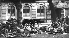 German Freikorps and German troops in Berlin Germany under Walther von Luttwitz