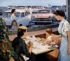 I wonder if they had the orange sorbet? :) Howard Johnsons 1950s