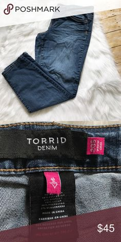 Torrid denim jeans in Excellent condition/ no trades/no PayPal/ smoke and pet free home/ please ask Questions!/ like what you see but the price to high? Make an offer! 💜 torrid Jeans