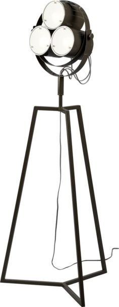 CB2 Signal Floor Lamp ($299) - Lights, camera, action! Fun movie themed lighting for what else but a home theater.