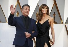 Sylvester Stallone and His wife Jennifer at Oscars 2016