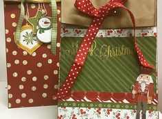 How to Make a Bo Bunny Dear Santa Holiday Goodie Bag - Snapguide