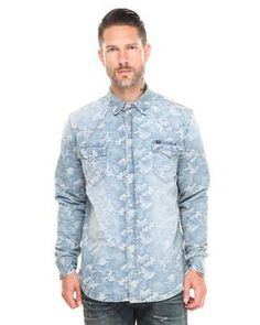 Light Camo Western Shirt by Cult Of Individuality