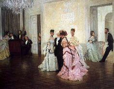 """Tissot """"Too Early"""" 1870s"""