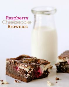 Raspberry Cheesecake Brownies | confessionsofacookqueen.com
