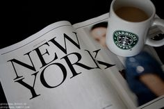 Starbucks and New York! Couldn't imagine anything better!!