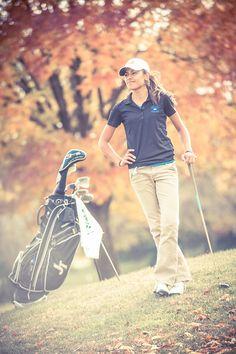 Girl's Autumn Golf Portraits Joliet Central High School - Joliet Senior Photos