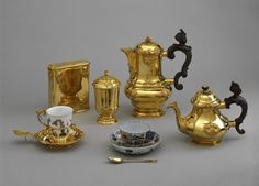The lunch set used by Marie Theresa empress of Austria, the mother of Marie-Antoinette. She had 16 children with Francis I Holy Roman Emperor and Duke of Lorraine.